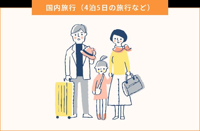 国内旅行(4泊5日の旅行など)