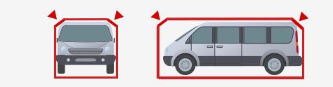 極端に箱型の車